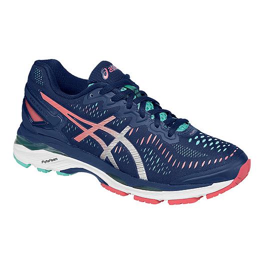 the best attitude 0a60b 2a61c ASICS Women's Gel Kayano 23 Running Shoes - Navy/Pink/Light ...