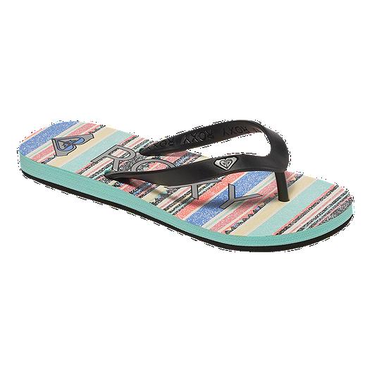 441dac42ba10 Roxy Girls  Tahiti V Sandals - Turquoise Black