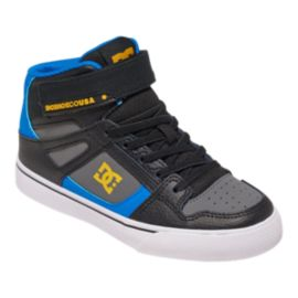 DC Kids' Spartan EV High-Top Preschool Skate Shoes - Black/Blue/Grey