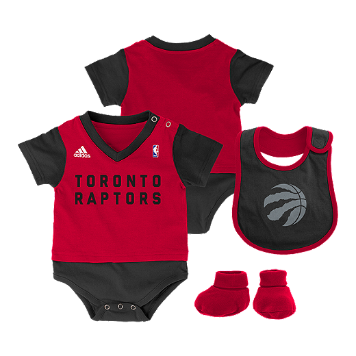 cheaper c9c83 f6385 Toronto Raptors Lil Jersey Infant Creeper Bib & Bootie Set ...