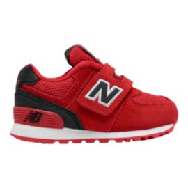 New Balance Kids' 574 Preschool Casual Shoes - Red/Black