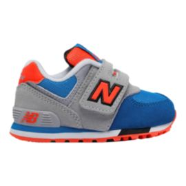 New Balance Toddler 574 Running Shoes - Grey/Blue