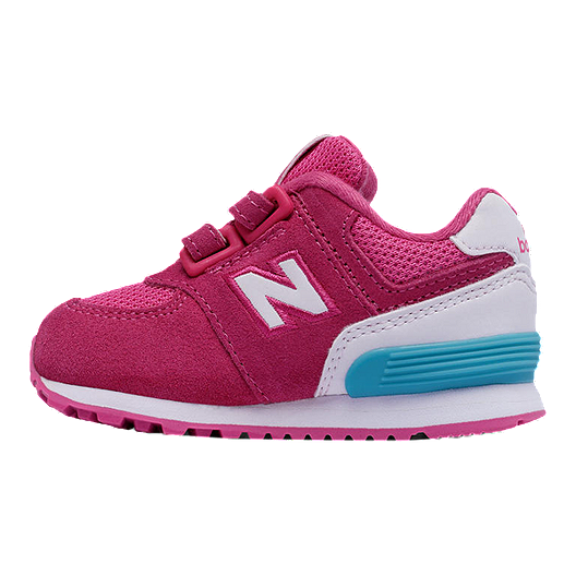 quality design b9ce0 9377c New Balance Toddler Girls' 574 Running Shoes - Pink/White ...