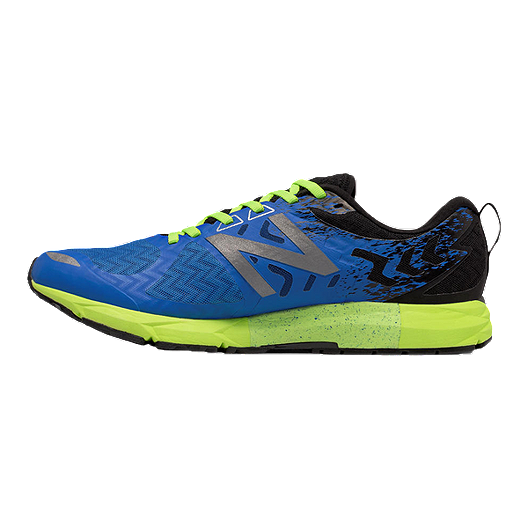 low priced 2bc95 0b143 New Balance Men's 1500 V3 D Running Shoes - Blue/Lime Green ...