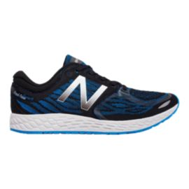 New Balance Men's M-Zante V3 Running Shoes - Black/Blue Pattern