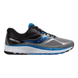 Saucony Men's Everun Guide 10 Running Shoes - Grey/Black/Blue