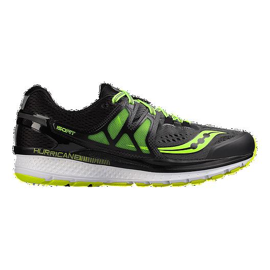 dc92e7c50df Saucony Men s Hurricane ISO 3 Running Shoes - Black Lime Green ...
