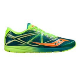 Saucony Men's Type A Road Race Running Shoes - Green/Lime Green/Orange