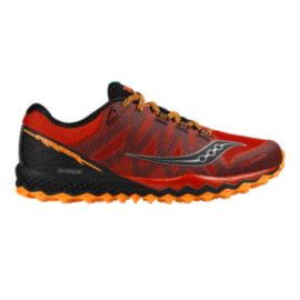 Saucony Men's Peregrine 7 Running Shoes - Red/Black/Orange
