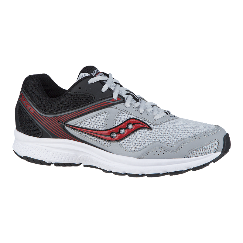 a2cee8e7354 Saucony Men s Grid Exite 9 Running Shoes - Light Grey Black Red ...