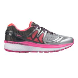 Saucony Women's Hurricane ISO 3 Running Shoes - Grey/Silver/Pink