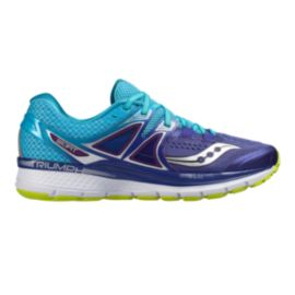 Saucony Women's Triumph ISO 3 Running Shoes - Purple/Blue/Lime Green