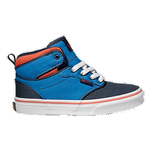 fc0b5501c5786f Vans Kids  Atwood Hi Skate Shoes - Blue Orange