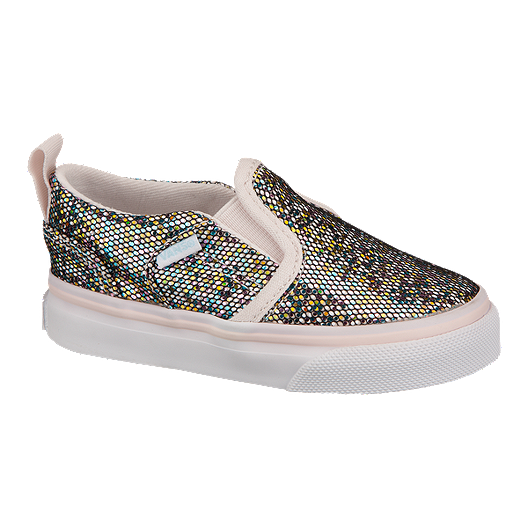 a0be763f06 Vans Toddler Girls  Asher V Glitter Skate Shoes