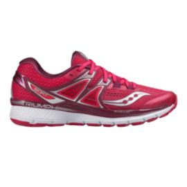 Saucony Women's Triumph ISO 3 Running Shoes - Berry Pink/Silver