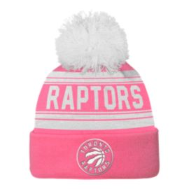 Toronto Raptors Girls Cuffed Pom Knit