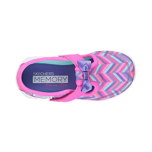 7df862c7720f6 Skechers Toddler Girls  Go Walk Bow Steps Casual Shoes - Pink Purple ...