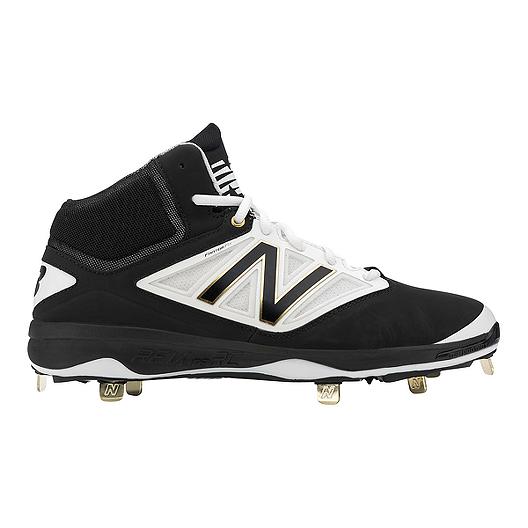 89a4c4014 New Balance Men's M4040v3 D Mid Metal Baseball Cleats - Black/White   Sport  Chek
