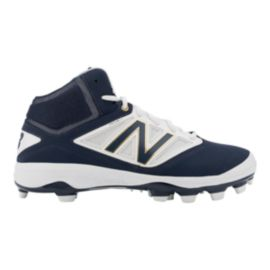 New Balance Men's PM4040v3 TPU Mid Baseball Cleats - Blue/White