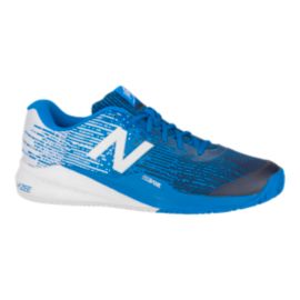 New Balance Men's 996v3 Tennis Shoes - Blue/White