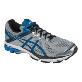 ASICS Men's GT-1000 4 4E Extra Wide Width Running Shoes - Grey/Blue/Black