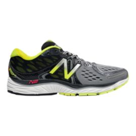 New Balance Men's 1260v6 2E Wide Width Running Shoes - Grey/Black/Lime Green