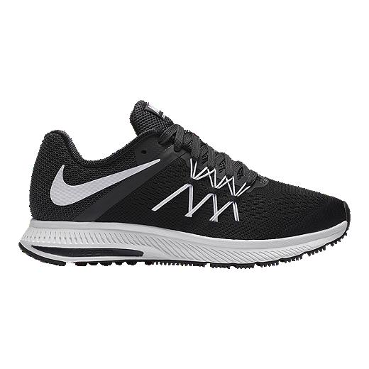 buy online 0c3f7 887f7 ... ireland nike womens zoom winflo running shoes black white cc83e aa8b8