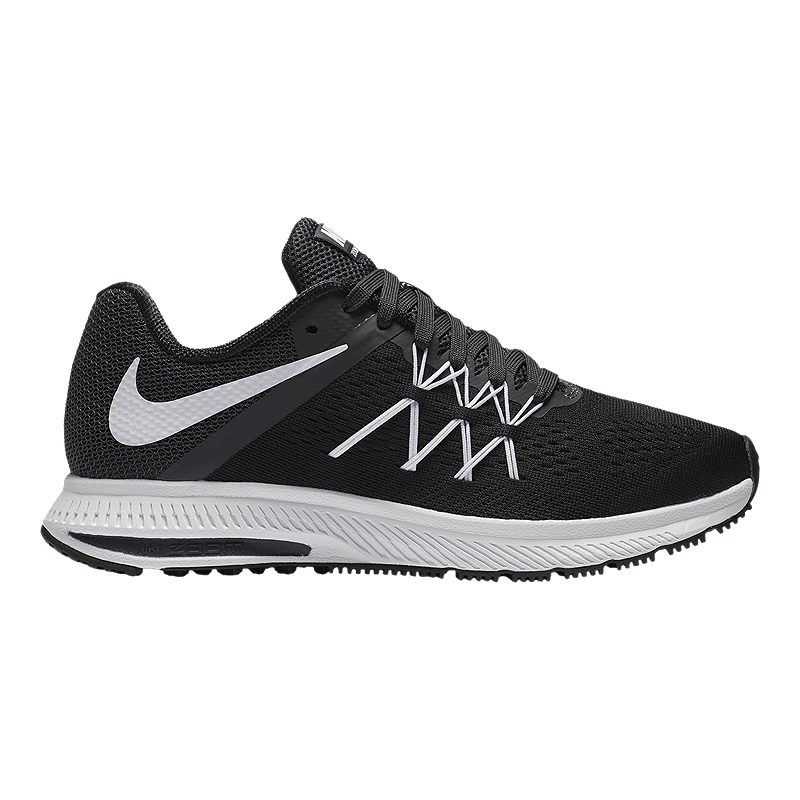 e305c292f3a Nike Women s Zoom Winflo Running Shoes - Black White