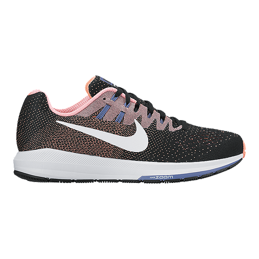 31c0a293fbf Nike Women s Air Zoom Structure 20 Running Shoes - Black Pink White ...
