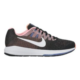 Nike Women's Air Zoom Structure 20 Running Shoes - Black/Pink/White