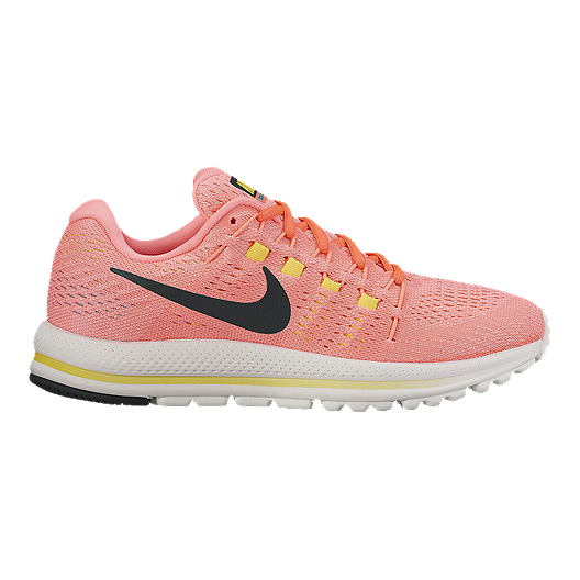 d40db1f9da126 Nike Women s Air Zoom Vomero 12 Running Shoes - Pink Black Yellow ...