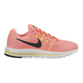 uk availability aa1c7 8957a Nike Women s Air Zoom Vomero 12 Running Shoes - Pink Black Yellow