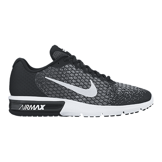 newest e0f0f 76b2c Nike Men's Air Max Sequent 2 Running Shoes - Black/White   Sport Chek