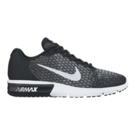 Nike Men's Air Max Sequent 2 Running Shoes - Black/White
