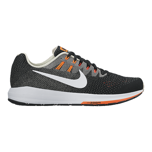info for 02b72 80d28 Nike Men s Air Zoom Structure 20 Running Shoes - Black White Orange   Sport  Chek