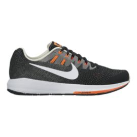 Nike Men's Air Zoom Structure 20 Running Shoes - Black/White/Orange