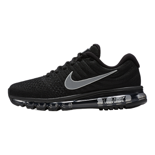 Nike Men's Air Max 2017 Running Shoes BlackSilver | Sport