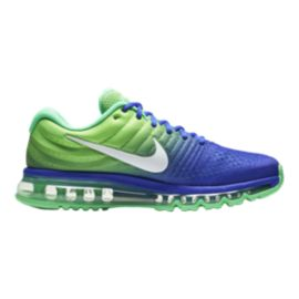 Nike Men's Air Max 2017 Running Shoes - Blue/Green