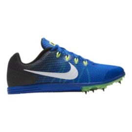 Nike Men's Zoom Rival D9 Hyper Track & Field Running Shoes - Cobalt Blue/Lime Green