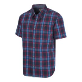 Vans Men's Hollington Short Sleeve Plaid Shirt - Blue