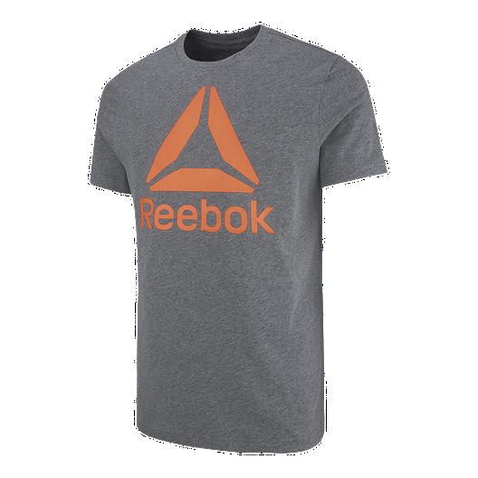 f857aedec7df Reebok Men s Stacked Logo Crew T Shirt