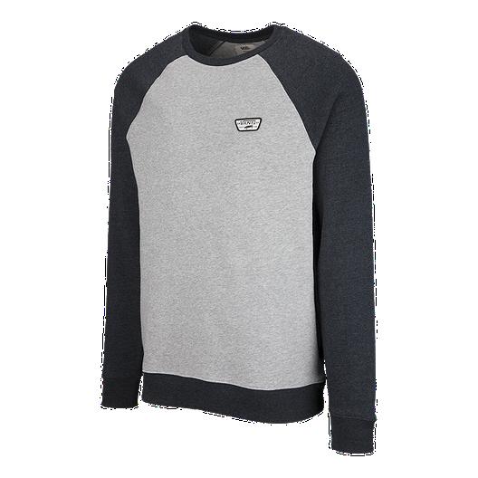 254205661 Vans Men's Rutland II Crew Sweatshirt - Cement Heather/Black Heather    Sport Chek