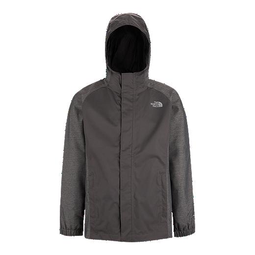 7a74f0651 The North Face Boys' Resolve Reflective Rain Jacket - GRAPHITE GREY
