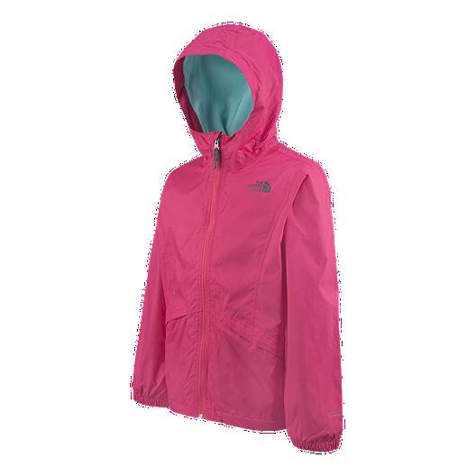752f051d5331 The North Face Girls  Fleece Lined Zipline Rain Jacket
