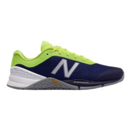 New Balance Men's 40 2E Wide Width Training Shoes - Blue/Lime Green/Grey