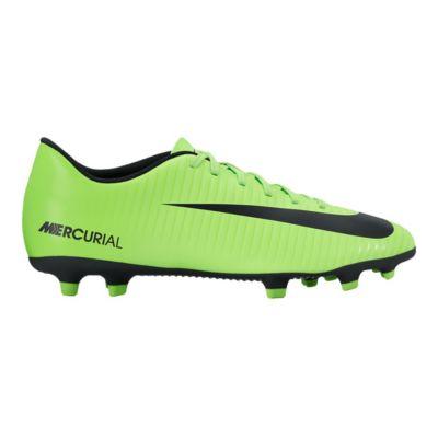 Nike Men\u0027s Mercurial Vortex III FG Outdoor Soccer Cleats - Lime Green/Black