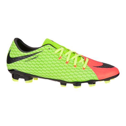 superior quality cc795 56d38 Nike Men's HyperVenom Phelon III FG Outdoor Soccer Cleats - Volt  Green/Pink/Black
