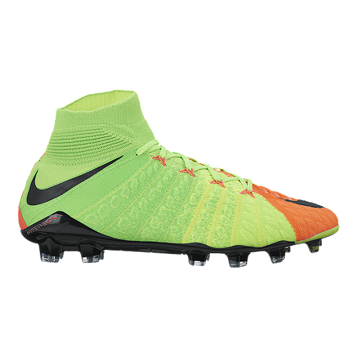 5cbdf440e68 Nike Men s HyperVenom Phantom III FG Outdoor Soccer Cleats - Volt Green  Black