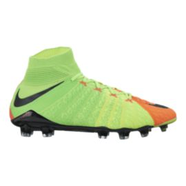 Nike Men's HyperVenom Phantom III FG Outdoor Soccer Cleats - Volt Green/Black