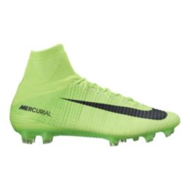 Nike Men's Mercurial SuperFly V FG Outdoor Soccer Cleats - Lime Green/Black